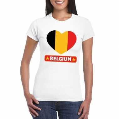 I love belgie t-shirt wit dames