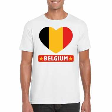 I love belgie t-shirt wit heren