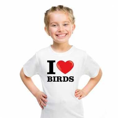 I love birds t-shirt wit jongens en meisjes