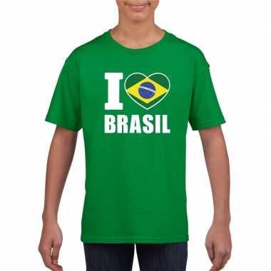 I love brazilie supporter shirt groen jongens en meisjes