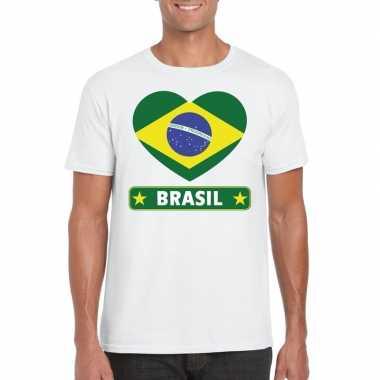 I love brazilie t-shirt wit heren