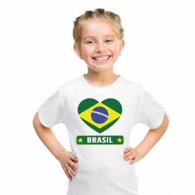 I love brazilie t-shirt wit kinderen