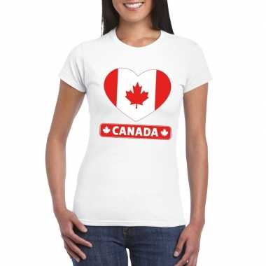 I love canada t-shirt wit dames