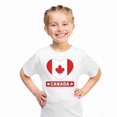 I love canada t-shirt wit kinderen