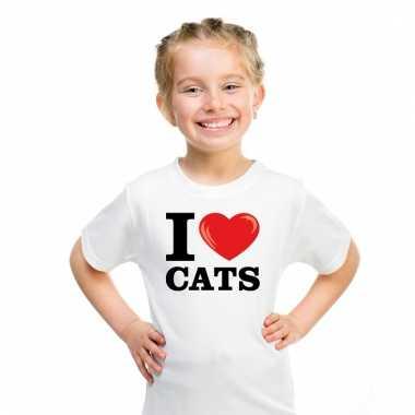 I love cats t-shirt wit jongens en meisjes