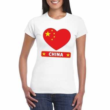 I love china t-shirt wit dames