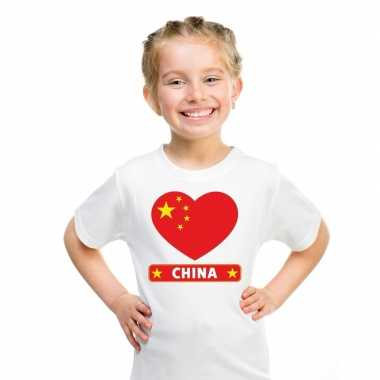 I love china t-shirt wit kinderen