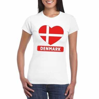I love denemarken t-shirt wit dames
