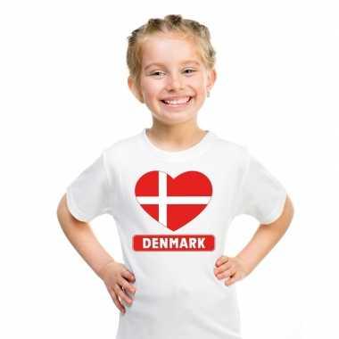 I love denemarken t-shirt wit kinderen