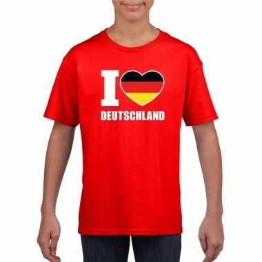 I love deutschland/ duitsland supporter shirt rood jongens en meisjes