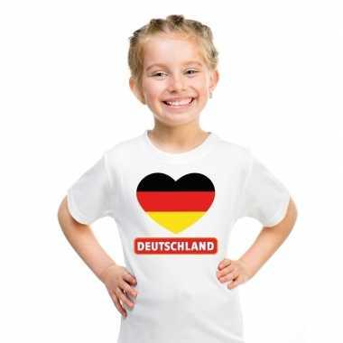 I love duitsland t-shirt wit kinderen