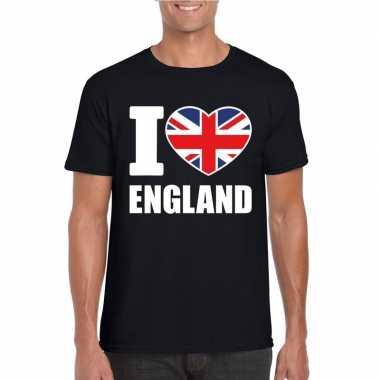 I love england/ engeland supporter shirt zwart heren