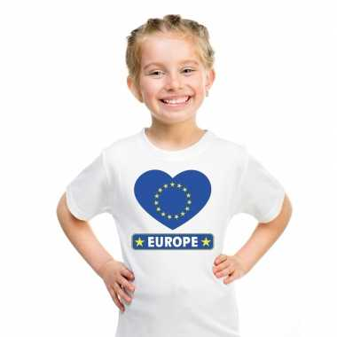 I love europa t-shirt wit kinderen