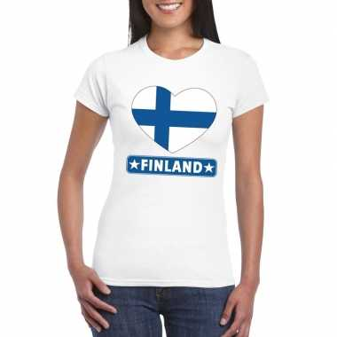 I love finland t-shirt wit dames