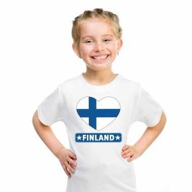I love finland t-shirt wit kinderen