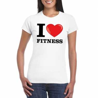 I love fitness t-shirt wit dames
