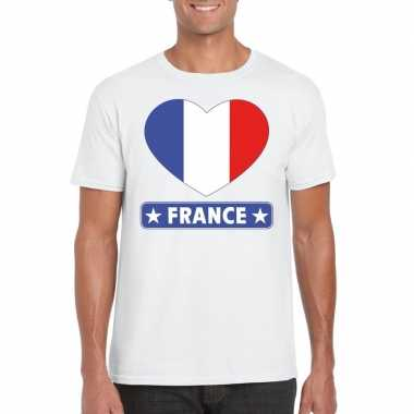 I love frankrijk t-shirt wit heren