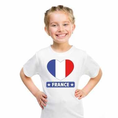 I love frankrijk t-shirt wit kinderen