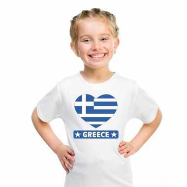 I love griekenland t-shirt wit kinderen