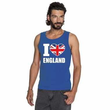 I love groot-brittannie supporter mouwloos shirt blauw heren