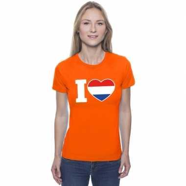 I love holland shirt oranje dames