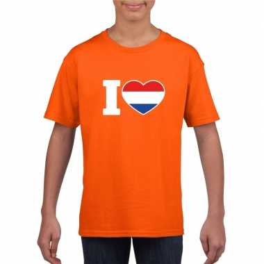 I love holland shirt oranje kinderen