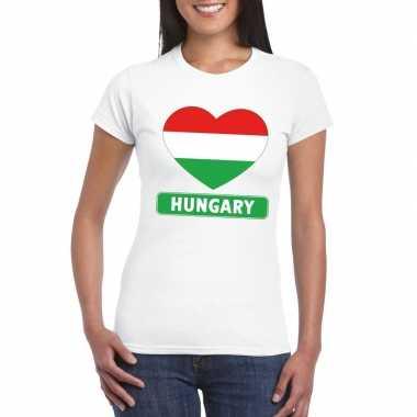 I love hongarije t-shirt wit dames