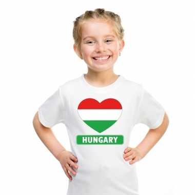 I love hongarije t-shirt wit kinderen