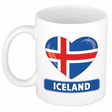 I love ijsland mok / beker 300 ml