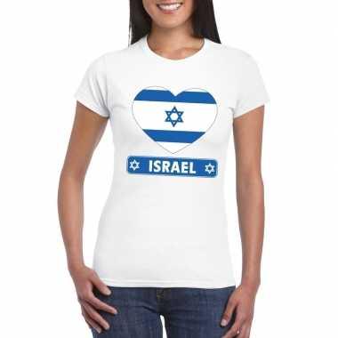I love israel t-shirt wit dames
