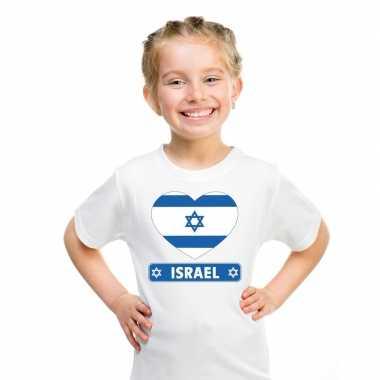 I love israel t-shirt wit kinderen
