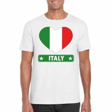 I love italie t-shirt wit heren