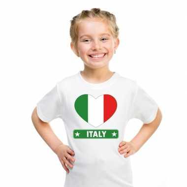 I love italie t-shirt wit kinderen