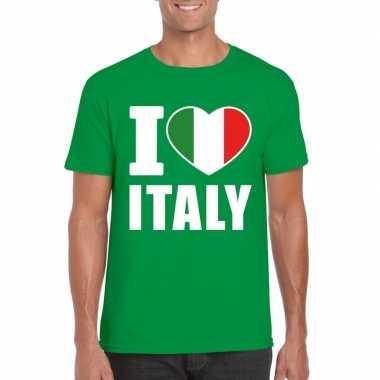I love italy/ italie supporter shirt groen heren