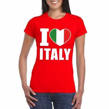I love italy/ italie supporter shirt rood dames