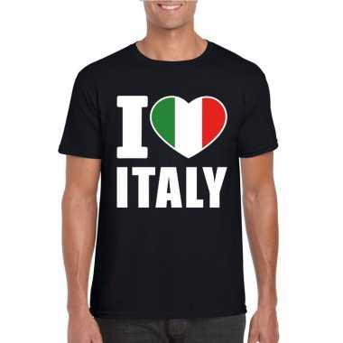 I love italy/ italie supporter shirt zwart heren