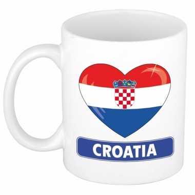 I love kroatie mok / beker 300 ml