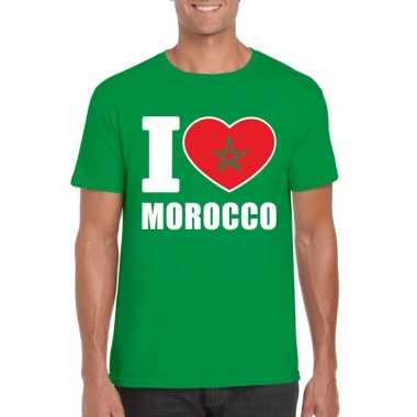 I love marokko supporter shirt groen heren