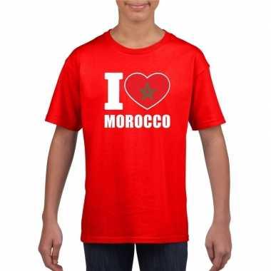 I love marokko supporter shirt rood jongens en meisjes