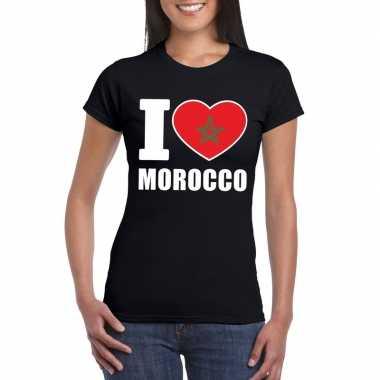 I love marokko supporter shirt zwart dames