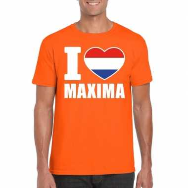 I love maxima shirt oranje heren
