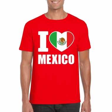 I love mexico supporter shirt rood heren