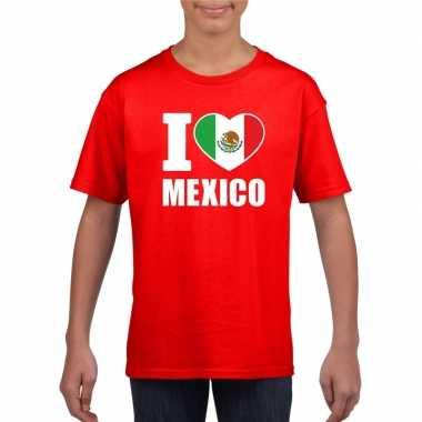 I love mexico supporter shirt rood jongens en meisjes