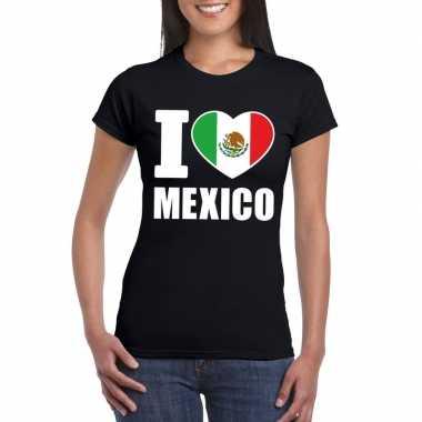 I love mexico supporter shirt zwart dames
