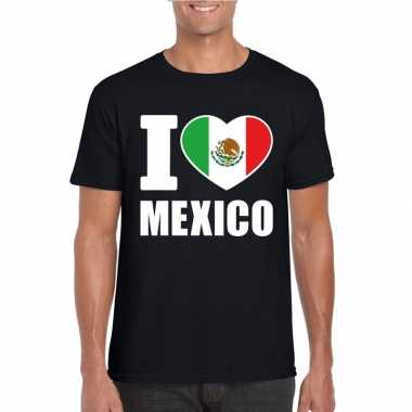 I love mexico supporter shirt zwart heren