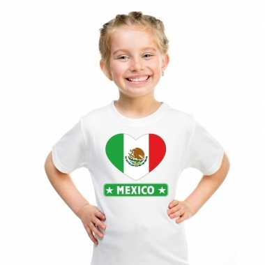 I love mexico t-shirt wit kinderen