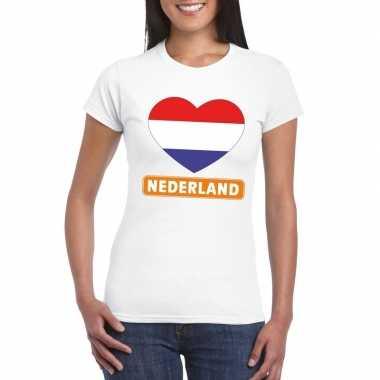 I love nederland t-shirt wit dames