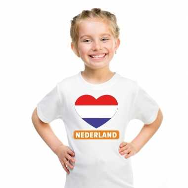 I love nederland t-shirt wit kinderen