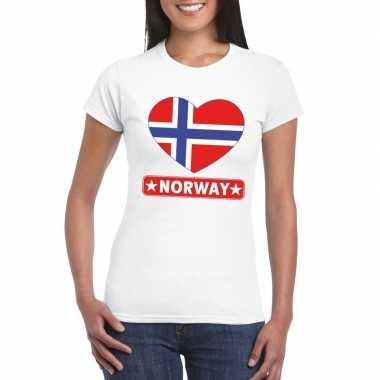 I love noorwegen t-shirt wit dames