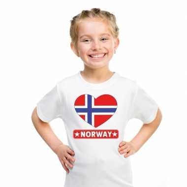 I love noorwegen t-shirt wit kinderen